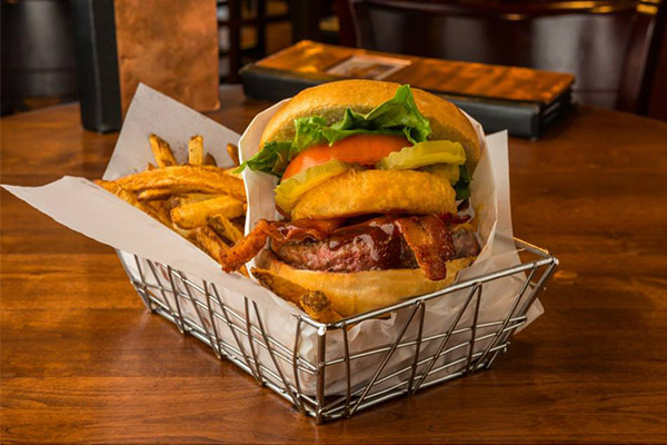 Burger and Fries from the Lucky Beaver