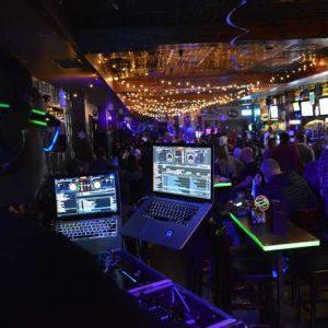 DJ lighting up the house