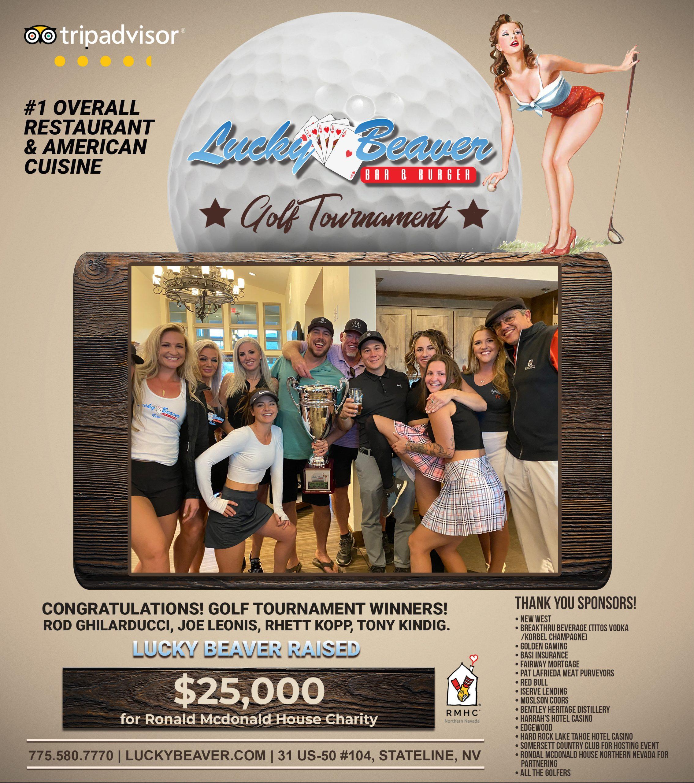 Lucky Beaver Golf Tournament raised $25,000